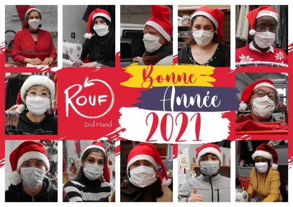 Employers de Rouf avec un bonnet de Noël